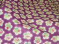 Dainty Flowers, Grape 100% Cotton Curtain / Soft Furnishing / Dressmaking Fabric